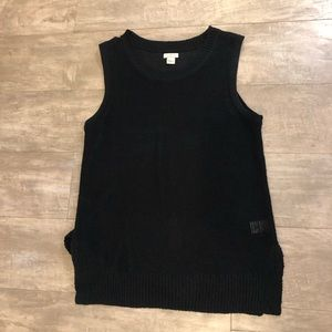 Black knit tank top in size small from J.Crew